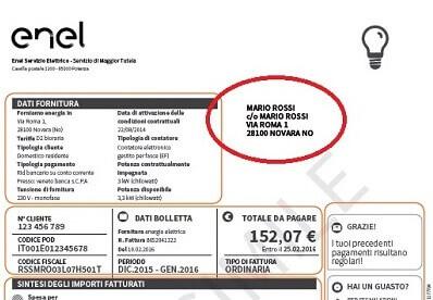 Quanto costa la voltura con enel for Enel gas bolletta