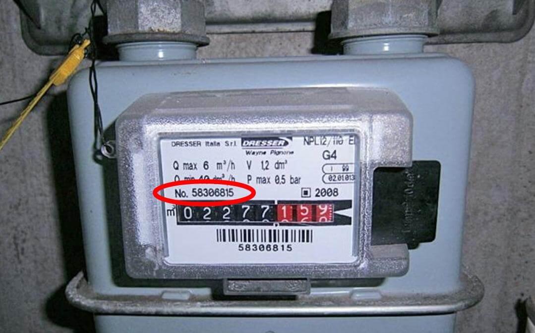 Dove trovo il numero di matricola del contatore gas for Contatore luce